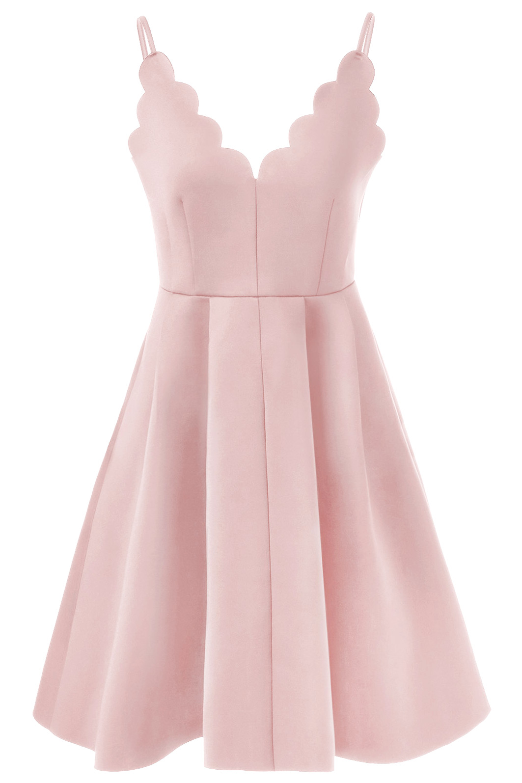 74f16db391a2 Simple A-Line Spaghetti Straps Pink Satin Short Homecoming Dress With Pleats